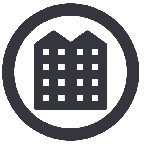 Apartment recycling icon